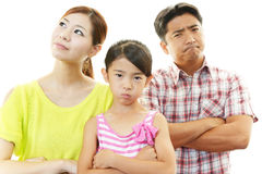 Gniewna rodzina Zdjęcia Stock