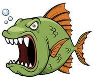 Gniewna rybia kreskówka ilustracja wektor