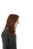 gniewna sfrustowana krzycząca kobieta Zdjęcie Stock