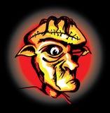 Gniewna straszna twarz frankenstein Ilustracja Wektor