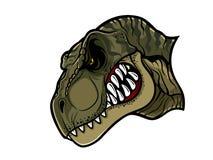 Gniewna T-Rex głowa royalty ilustracja