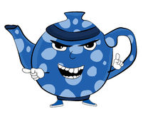 Gniewna Teapot kreskówka Fotografia Stock