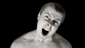 gniewna twarz Obraz Stock