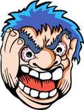 gniewna twarz ilustracji
