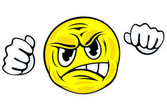 Gniewna twarzy ikona Obrazy Royalty Free