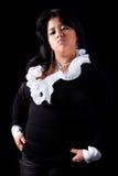 gniewna wielka łacińska kobieta fotografia stock