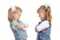 gniewne dziewczyny trochę dwa Obrazy Royalty Free
