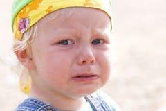 Gniewne łzy Fotografia Stock