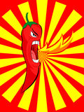 gniewnego chili ogienia czerwony wystrzykanie Zdjęcia Stock