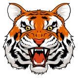 (1) 2 gniewnego czarny koloru halftone tygrysi wersi biel Fotografia Royalty Free