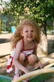 gniewnej dziewczyny z włosami czerwień Obraz Royalty Free