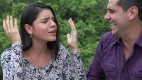 Gniewnej kobiety Apatyczny mężczyzna zbiory wideo