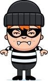 Gniewnej kreskówki Mały włamywacz ilustracja wektor