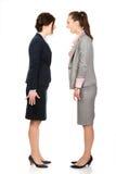 Gniewni businesswomans krzyczy przy each inny Zdjęcia Stock