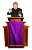 Gniewna kaznodzieja, minister, pastor, ksiądz egzorta Jest fotografia royalty free
