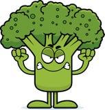 Gniewni kreskówka brokuły ilustracja wektor