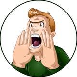 Gniewni mężczyzna krzyki Obrazy Stock