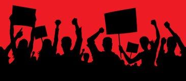 Gniewni protestujący Zdjęcie Royalty Free