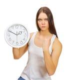 gniewni zegarów dziewczyny potomstwa Obrazy Royalty Free