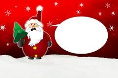 Gniewny Święty Mikołaj komiczki balon royalty ilustracja
