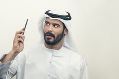 Gniewny Arabski biznesmen, Arabski biznesmen wyraża złość Obrazy Stock