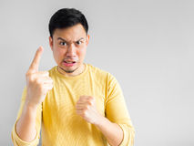 gniewny azjatykci mężczyzna Obraz Stock