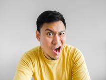 gniewny azjatykci mężczyzna Zdjęcia Royalty Free