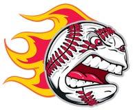 Gniewny baseball ilustracja wektor