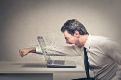 Gniewny biznesmen Zdjęcia Stock