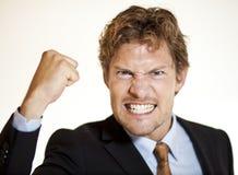 Gniewny biznesmen Zdjęcie Royalty Free