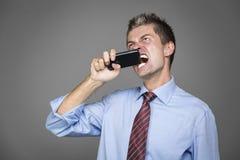Gniewny biznesmen Zdjęcie Stock