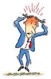 gniewny biznesmen ilustracji