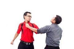 Gniewny biznesmen policzkuje Zdjęcia Stock