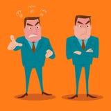 Gniewny biznesmena charakter - set Zdjęcia Stock