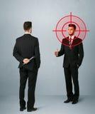 Gniewny biznesowy pojęcie Zdjęcia Stock