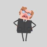 Gniewny biznesowy szef 3d ilustracji