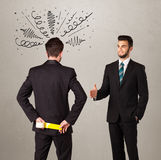 Gniewny biznesowy uścisku dłoni pojęcie Zdjęcia Stock