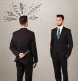 Gniewny biznesowy uścisku dłoni pojęcie Zdjęcie Stock