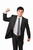 gniewny biznesowy zaciskający pięści ręki mężczyzna Obraz Royalty Free