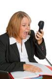 gniewny bizneswoman zdjęcia royalty free