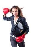 Gniewny bizneswoman Zdjęcie Stock