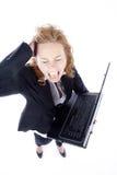 Gniewny bizneswoman Obraz Stock