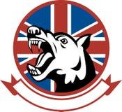 gniewny British psa strażnik trenujący royalty ilustracja