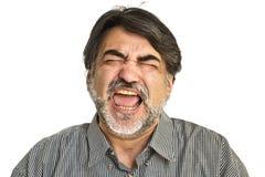 gniewny brodaty mężczyzna Obraz Stock