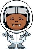 Gniewny chłopiec astronauta royalty ilustracja