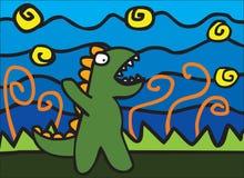 Gniewny Dinosaur ilustracji