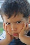Gniewny dzieciak Zdjęcia Stock