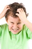 gniewny dzieciak zdjęcie royalty free