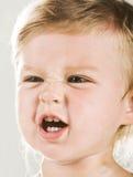 gniewny dziecko Zdjęcie Royalty Free