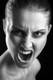 Gniewny dziewczyny krzyczeć Zdjęcia Royalty Free